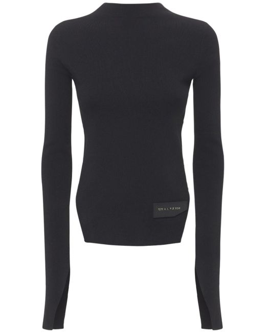 1017 ALYX 9SM Black Sweater Aus Viskosemischstrick