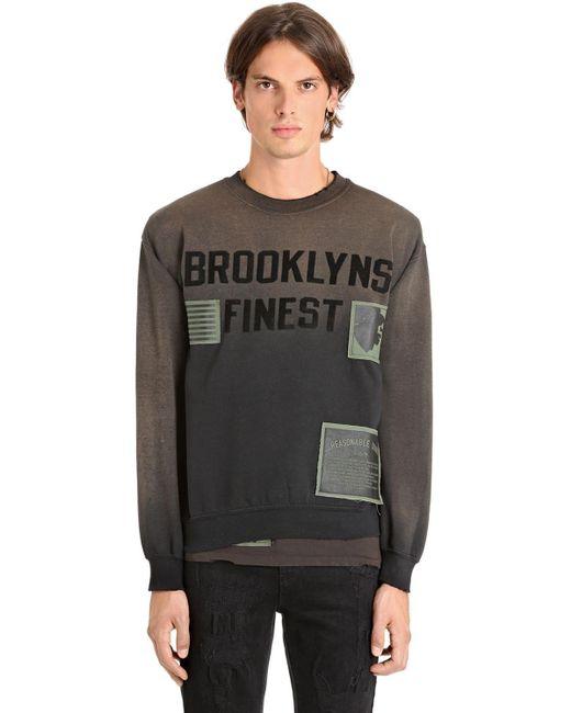 メンズ MadeWorn Brooklyns ファイネストコットンスウェットシャツ Gray