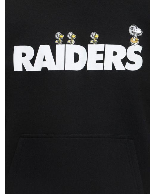 メンズ KTZ Nfl X Peanuts Raiders コットンフーディ Black
