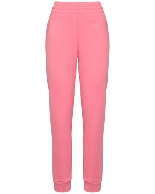 Спортивные Брюки Из Хлопка С Логотипом Moschino, цвет: Pink