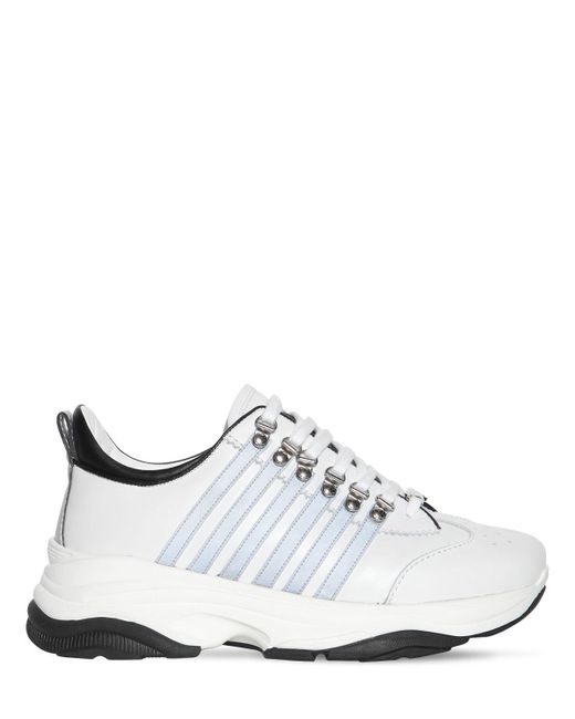 Кожаные Кроссовки 251 DSquared² для него, цвет: White