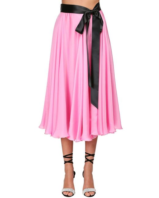 Alexandre Vauthier シフォンサテンスカート Pink