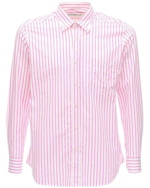 メンズ Department 5 コットンポプリンシャツ Pink