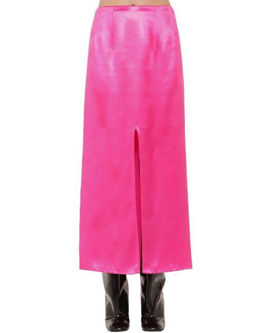 Атласная Юбка Marni, цвет: Pink
