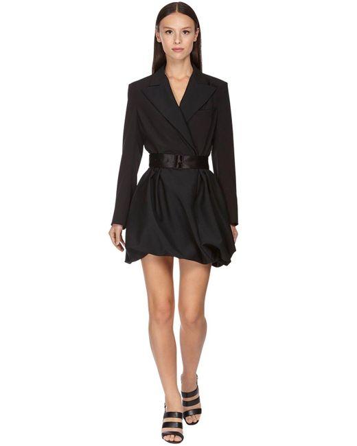 Ferragamo ウール&モヘアジャケットドレス Black