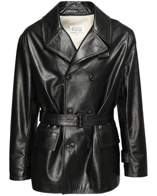 Куртка Из Кожи Maison Margiela для него, цвет: Black