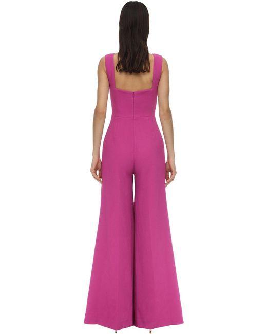 Emilia Wickstead ダブルクレープジャンプスーツ Purple