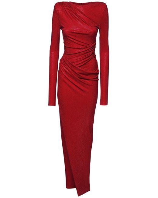 Драпированное Платье Из Джерси Alexandre Vauthier, цвет: Red