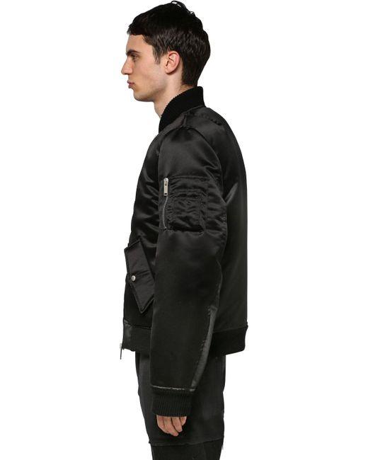 メンズ Unravel Project テクノサテン タキシードボンバージャケット Black
