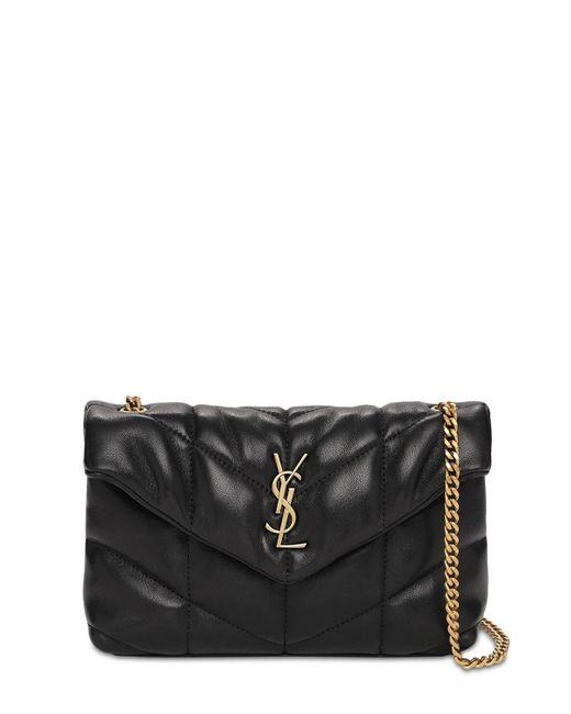 Кожаная Сумка Mini Puffer Loulou Saint Laurent, цвет: Black