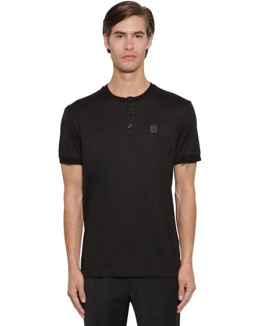 Футболка Из Хлопка Dolce & Gabbana для него, цвет: Black