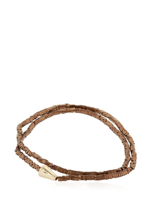 Luis Morais | Brown Gold Double Wrap Arrow Bracelet for Men | Lyst