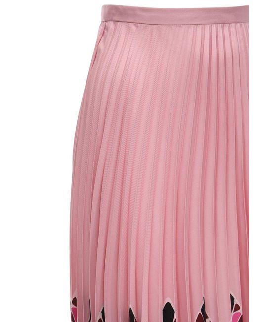 Valentino シルクツイルスカート Pink
