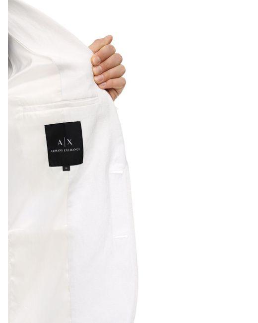 メンズ Armani Exchange リネン&ビスコースブレザー White