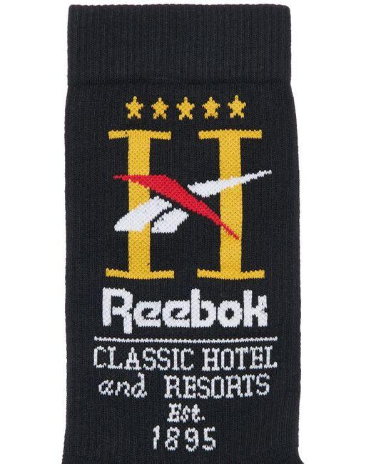 Reebok Cl Hotel コットンソックス Black