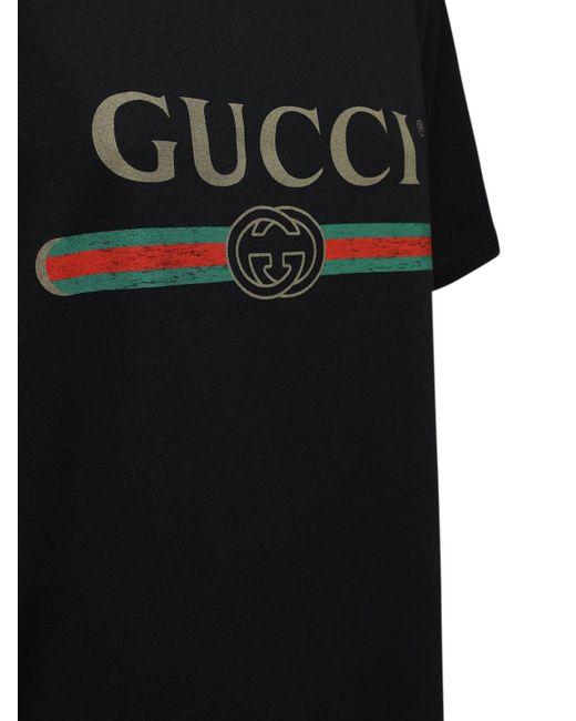 Gucci ヴィンテージロゴ コットンジャージーtシャツ Black