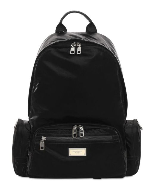 メンズ Dolce & Gabbana ナイロンバックパック Black
