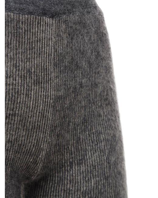 Jacquemus ニットモヘアブレンドショートパンツ Gray