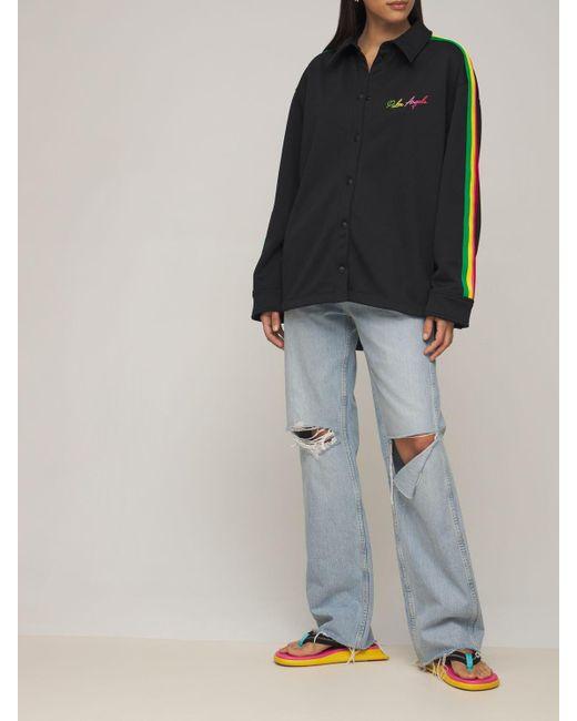 Palm Angels Miami テクニックシャツ Black