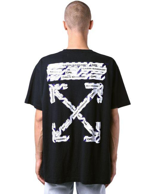 メンズ Off-White c/o Virgil Abloh オーバーサイズジャージーtシャツ Black