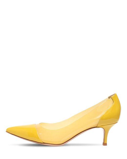 Туфли Из Плексиглас И Лакированной Кожи 55mm Gianvito Rossi, цвет: Multicolor