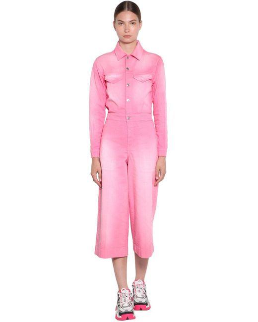KENZO コットンデニムジャンプスーツ Pink