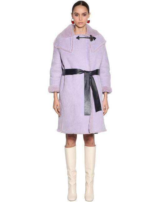 Marni シアリングコート Purple