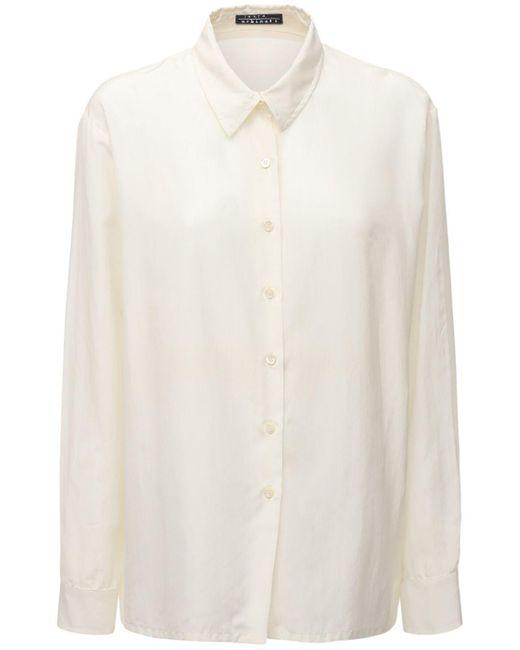 Laura Urbinati オーバーサイズコットン&シルクシャツ White