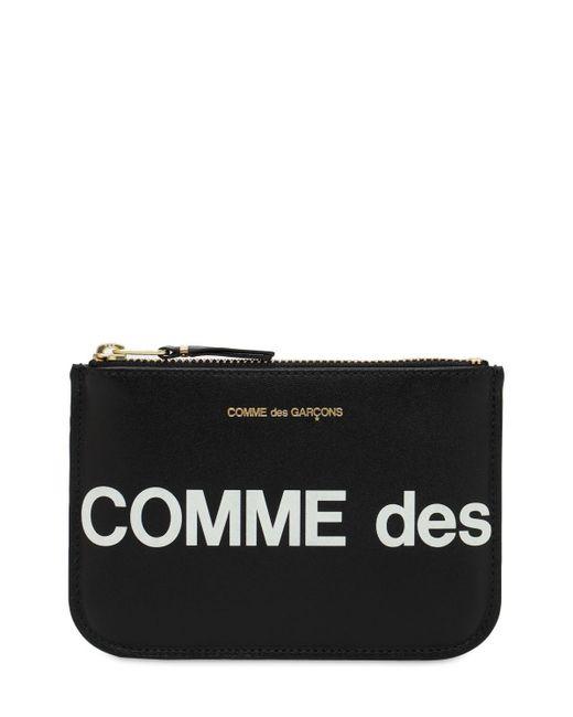 Кожаный Кошелек На Молнии Comme des Garçons для него, цвет: Black