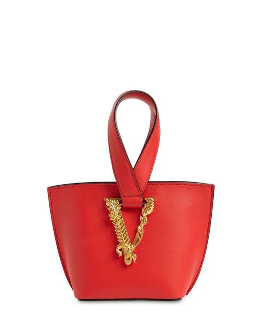 Сумка Из Кожи Versace, цвет: Red