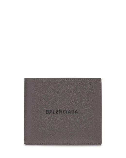 メンズ Balenciaga レザーウォレット Gray