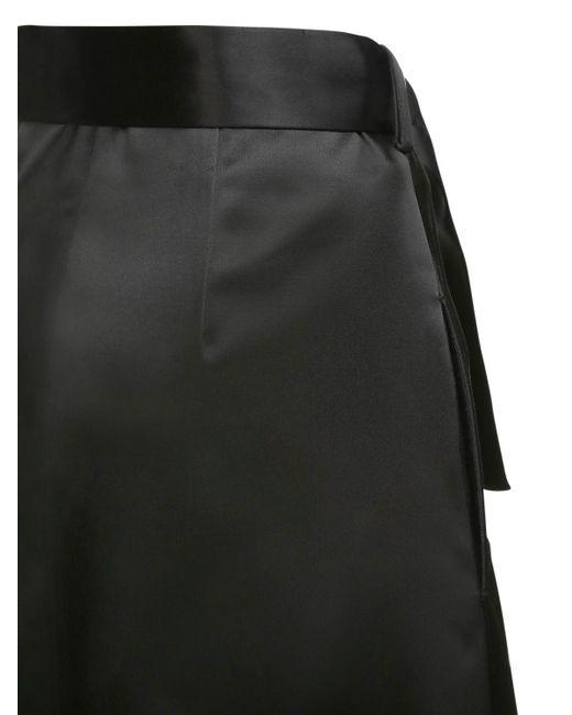 Jil Sander ベルテッドaラインスカート Black
