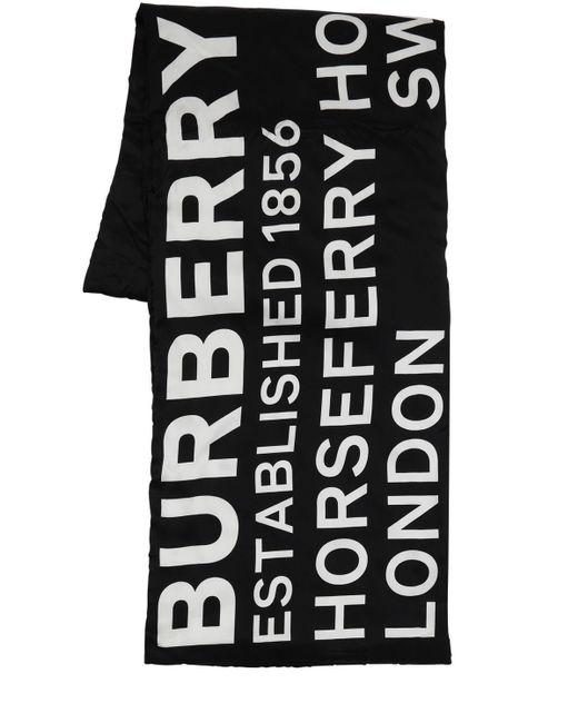 Bufanda De Seda Estampada Burberry de color Black