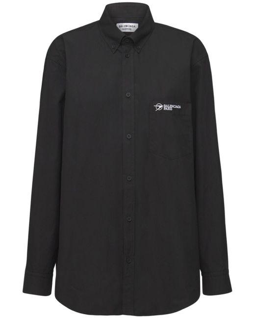 Balenciaga オーバーサイズコットンポプリンシャツ Black