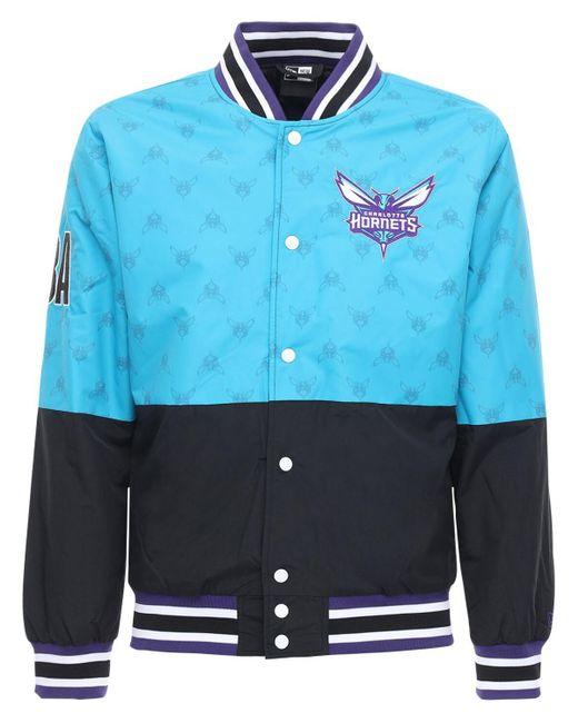 メンズ KTZ Nba ナイロンボンバージャケット Blue