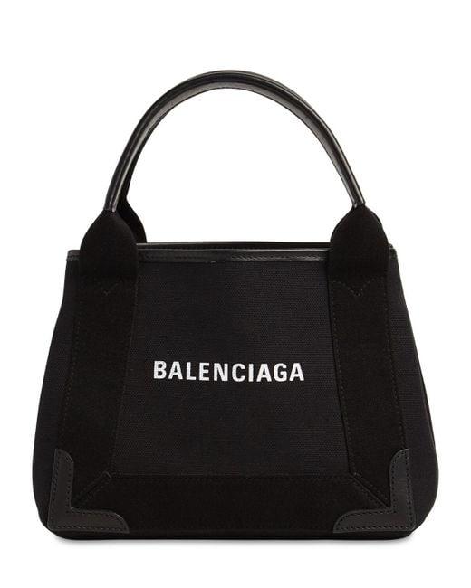 Balenciaga Navy Cabas キャンバスバッグ Black