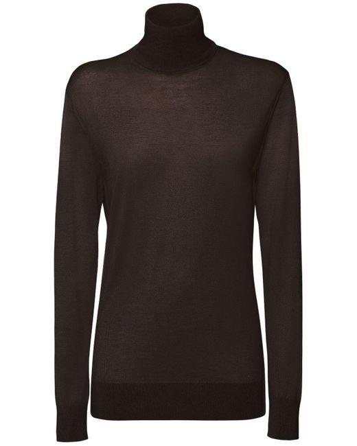 Dolce & Gabbana プリーツスパンコールスカート Black