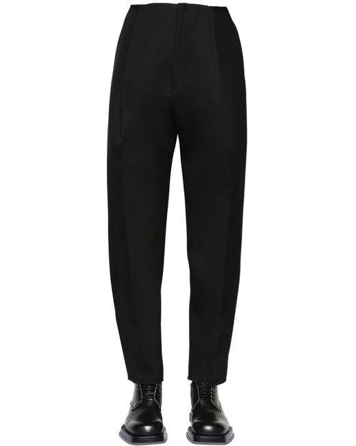 メンズ Bottega Veneta ダブルコンパクトウールパンツ Black