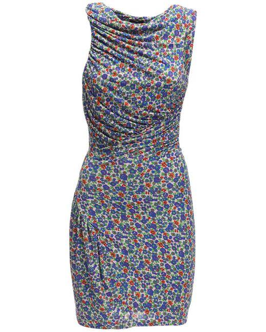 Atlein Lvr Exclusive ビスコースジャージードレス Blue