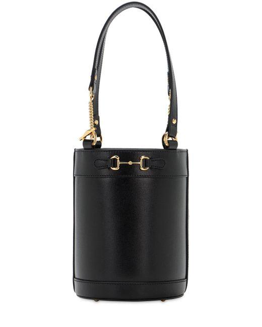 Кожаная Сумка Horsebit 1955 Gucci, цвет: Black