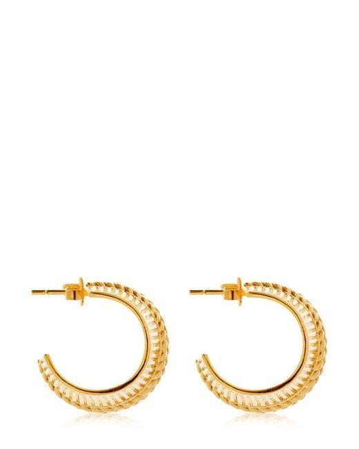 Joanna Laura Constantine - Metallic Collar Hoop Earrings - Lyst