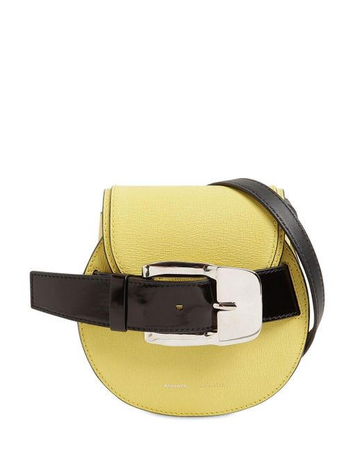 Proenza Schouler グレインレザークロスボディバッグ Yellow
