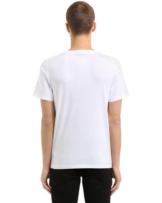 メンズ Maison Margiela コットンジャージーtシャツ 3枚組 White