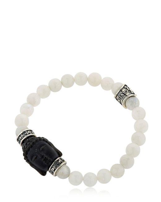 Cantini Mc Firenze | White Buddha Onyx & Moonstone Bracelet for Men | Lyst