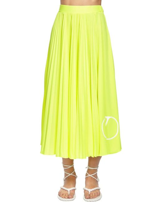 Юбка Со Складками Valentino, цвет: Yellow