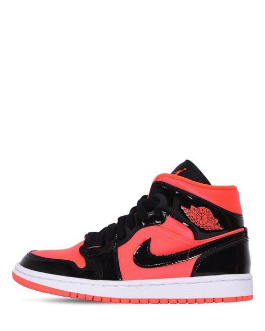 Nike Red Wmns Air Jordan 1 Mid Sneakers