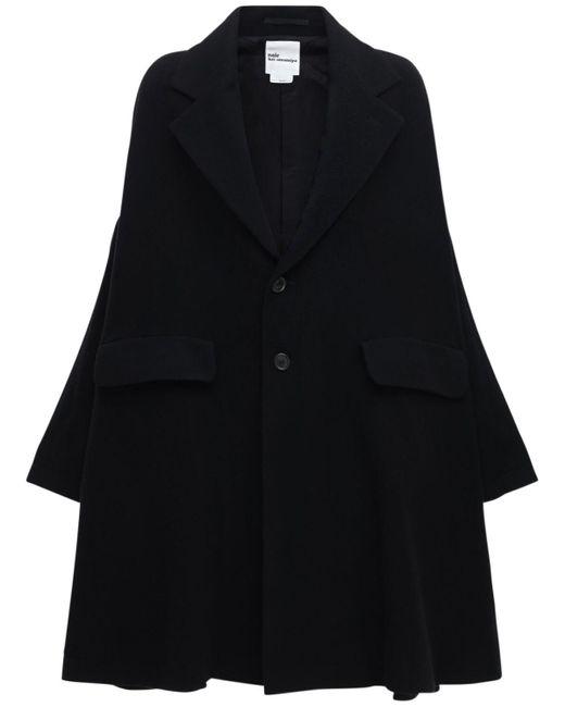 Noir Kei Ninomiya オーバーサイズウールクロスコート Black