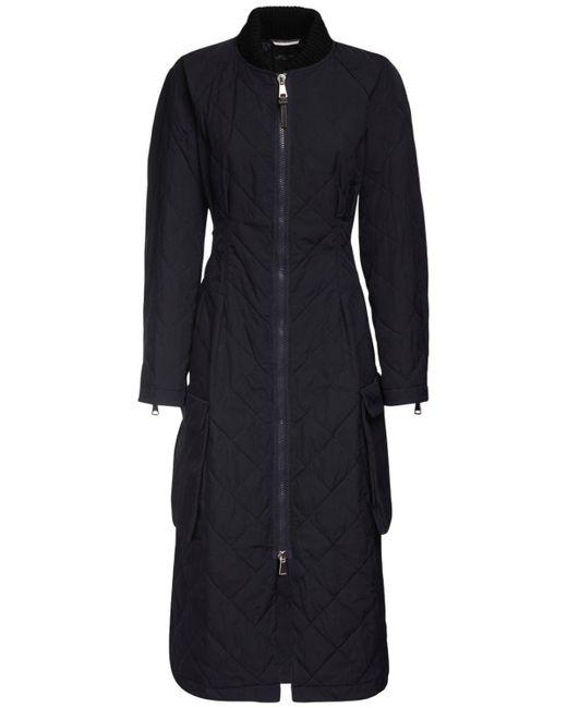 Weekend by Maxmara Blue Waterproof Quilted Gabardine Coat
