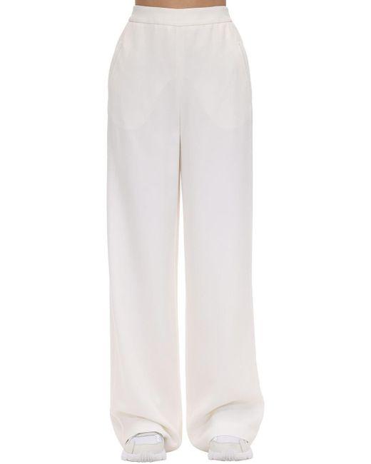 Agnona ウールブレンドワイドパンツ White