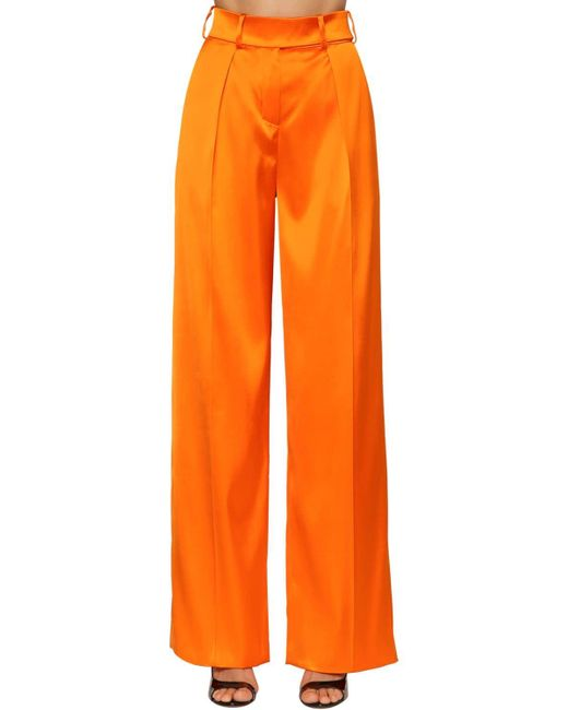 Alexandre Vauthier ハイウエストストレッチサテンパンツ Orange